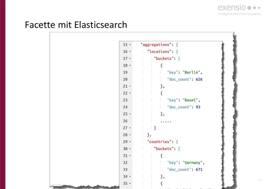 27 Facette mit Elasticsearch