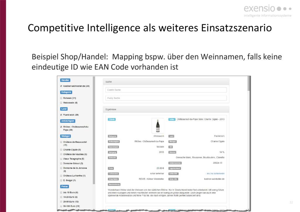 32 Competitive Intelligence als weiteres Einsat...