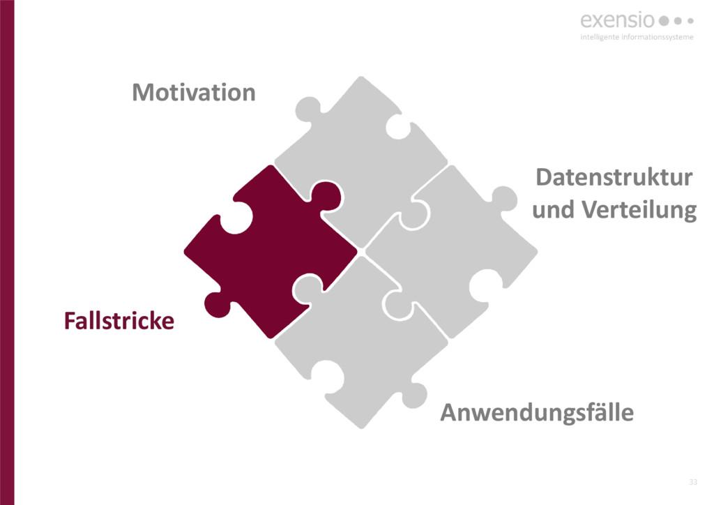 33 Anwendungsfälle Datenstruktur und Verteilung...
