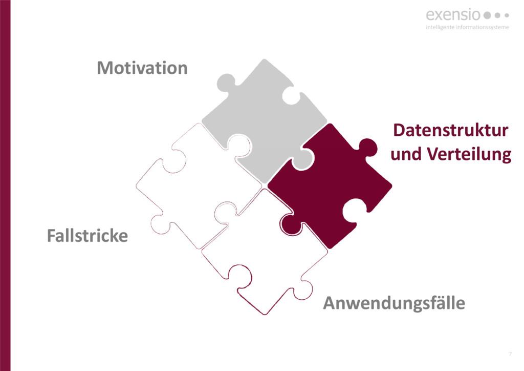 7 Anwendungsfälle Datenstruktur und Verteilung ...