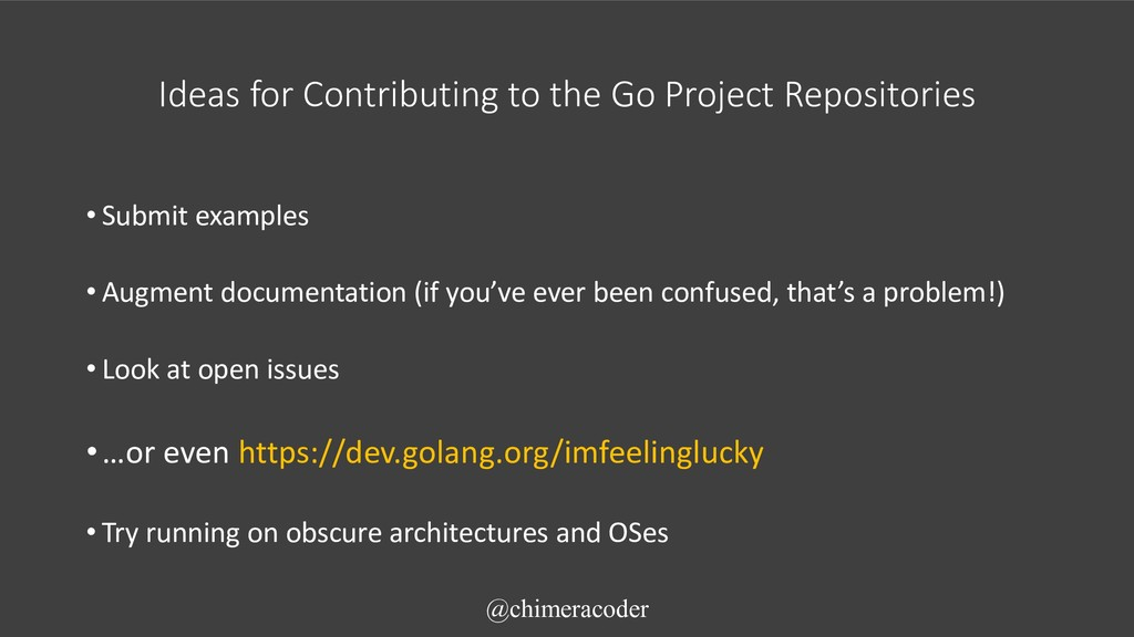 Ideas for Contributing to the Go Project Reposi...