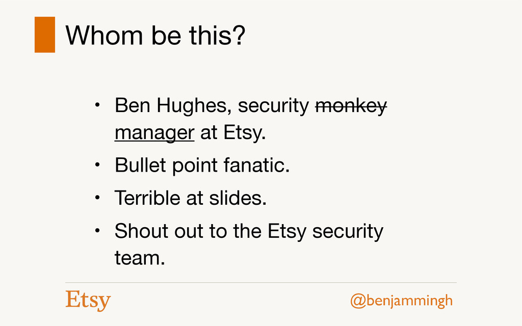 @benjammingh Whom be this? • Ben Hughes, securi...