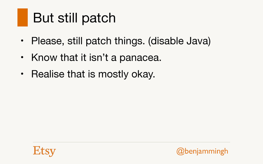 @benjammingh But still patch • Please, still pa...