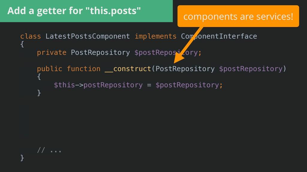 class LatestPostsComponent implements Component...