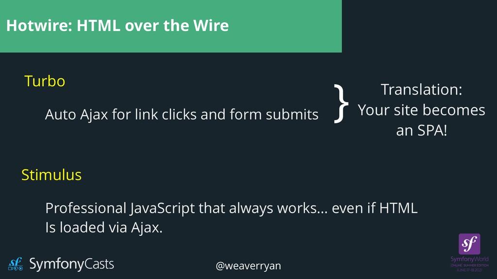 Hotwire: HTML over the Wire Turbo Stimulus Auto...