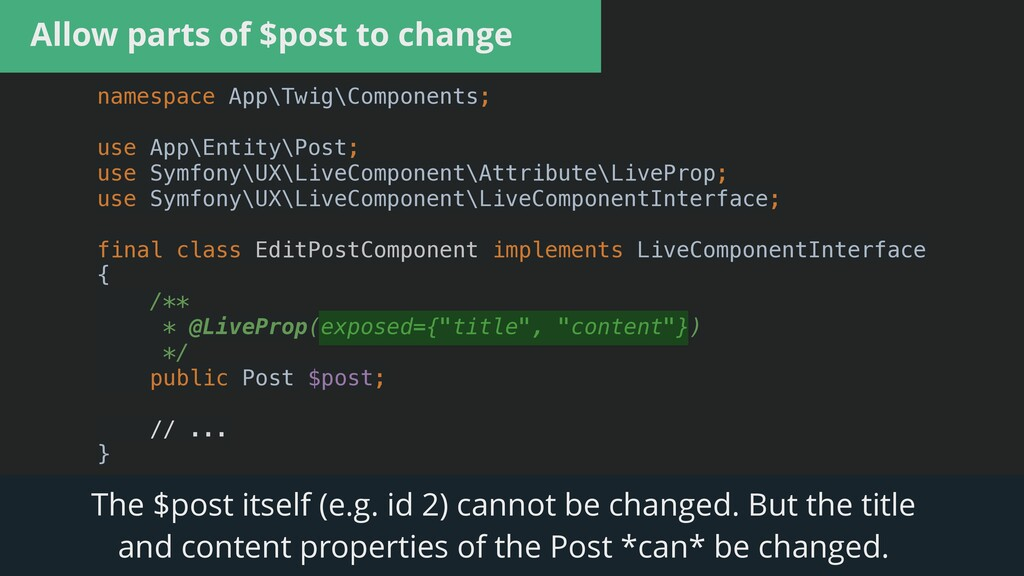 Allow parts of $post to change namespace App\Tw...