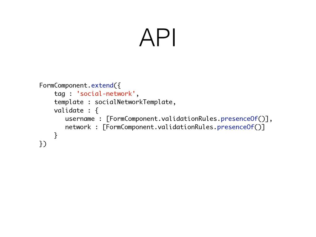 API FormComponent.extend({ tag : 'social-networ...