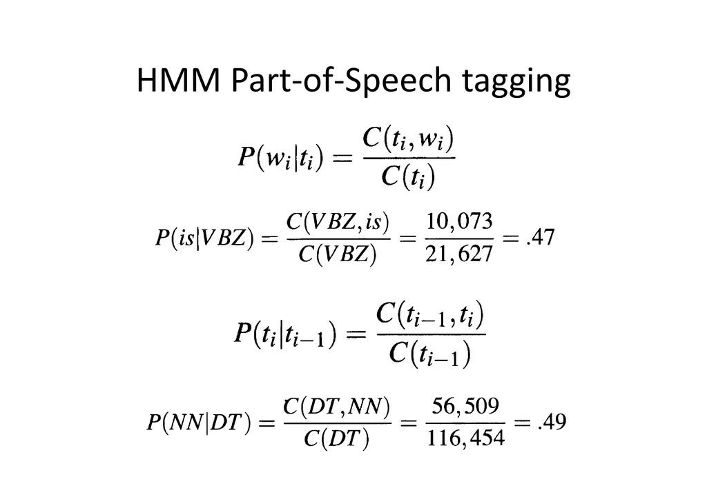 HMM Part-of-Speech tagging
