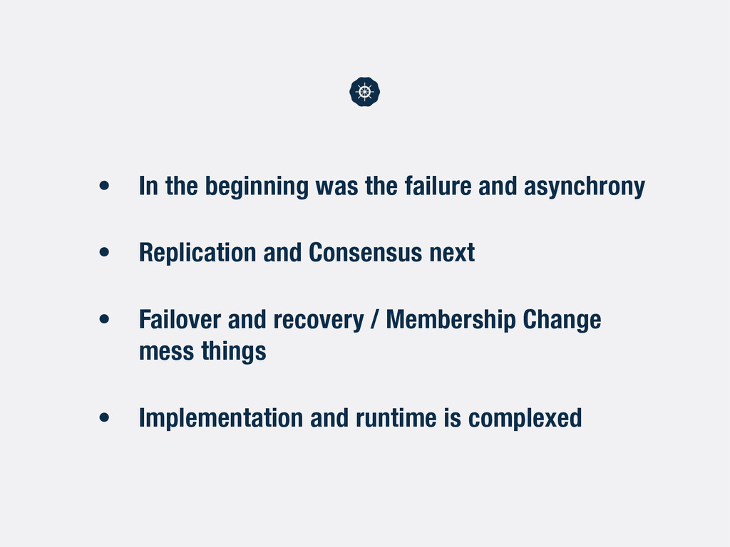 • In the beginning was the failure and asynchro...