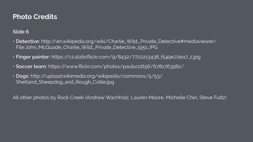 Photo Credits ! Slide 6 • Detective: http:/ /en...
