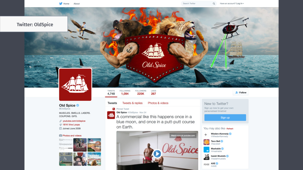 Twitter: OldSpice