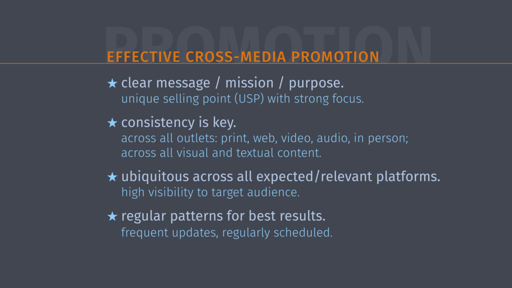 PROMOTION EFFECTIVE CROSS-MEDIA PROMOTION ★ cle...