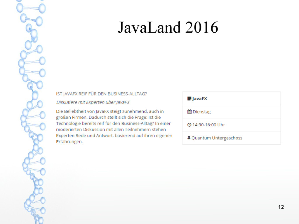 12 JavaLand 2016