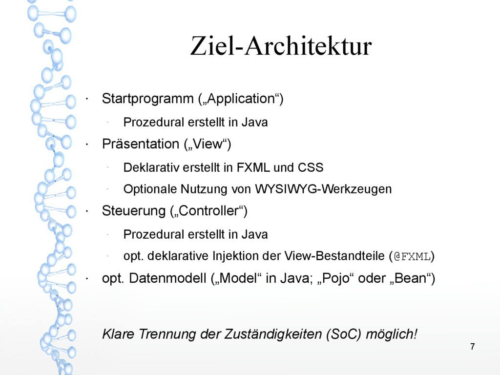 """7 Ziel-Architektur ● Startprogramm (""""Applicatio..."""