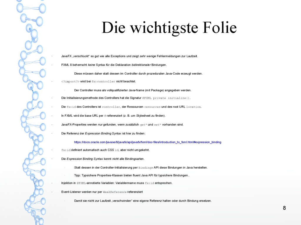 """8 Die wichtigste Folie ● JavaFX """"verschluckt"""" s..."""