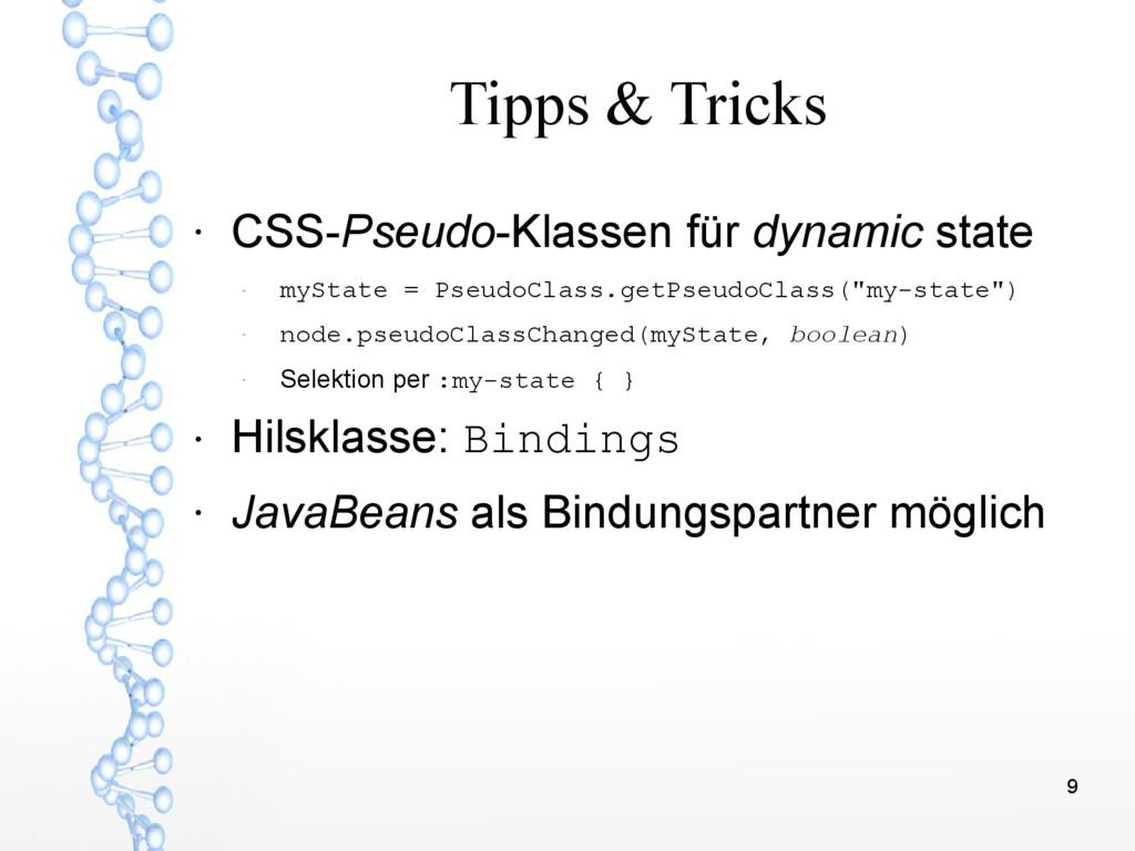 9 Tipps & Tricks ● CSS-Pseudo-Klassen für dynam...