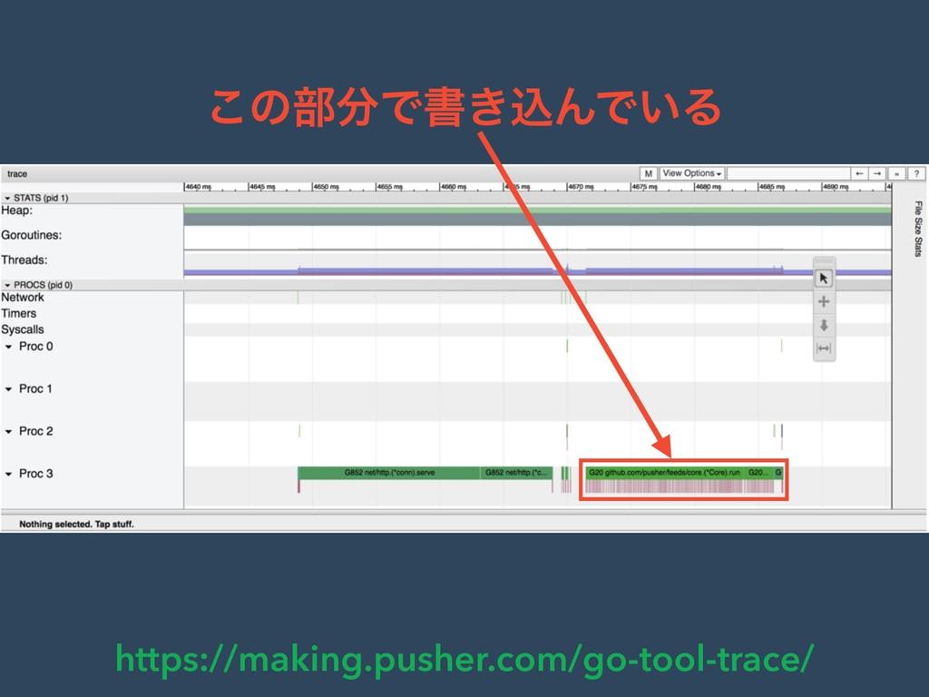 https://making.pusher.com/go-tool-trace/ ͜ͷ෦Ͱॻ...