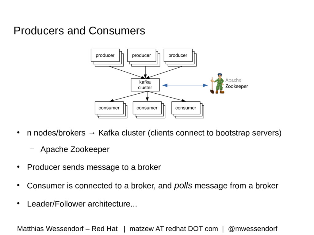 Producers and Consumers ● n nodes/brokers → Kaf...