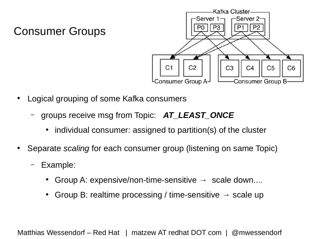 Consumer Groups ● Logical grouping of some Kafk...
