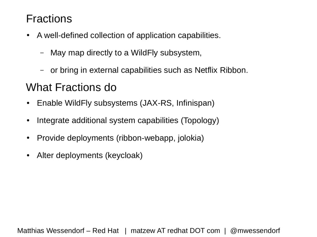 Fractions ● A well-defined collection of applic...