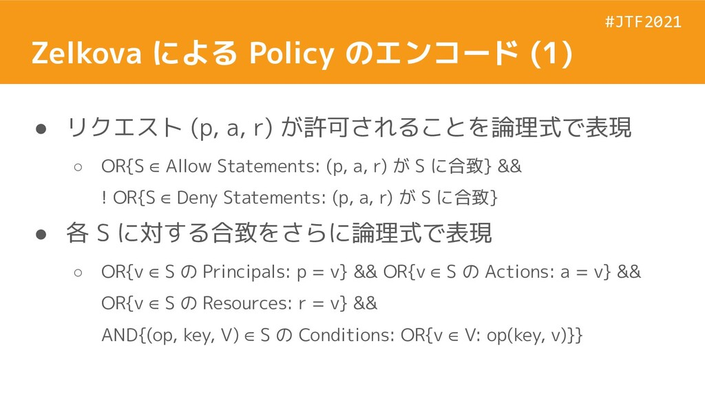 #JTF2021 #JTF2021 Zelkova による Policy のエンコード (1)...