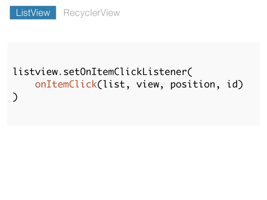 listview.setOnItemClickListener( onItemClick(li...