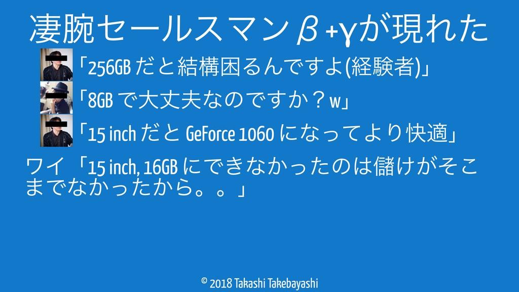 © 2018 Takashi Takebayashi ɹɹʮ256GB ͩͱ݁ߏࠔΔΜͰ͢Α(...