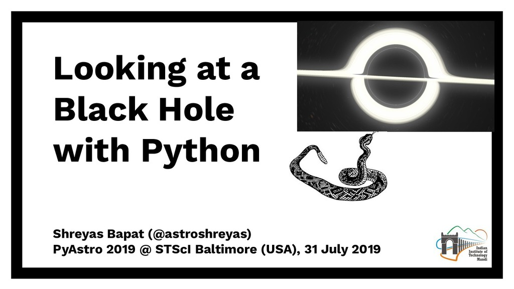 Looking at a Black Hole with Python Shreyas Bap...