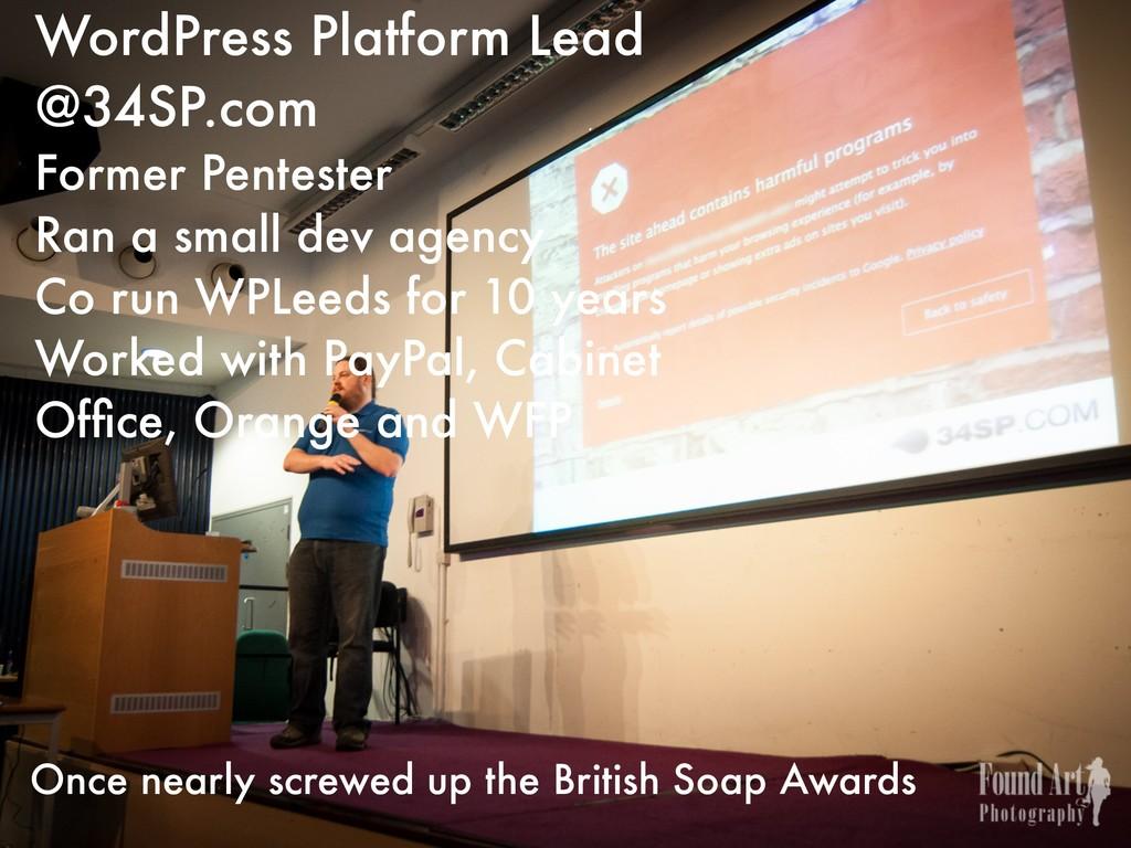WordPress Platform Lead @34SP.com Former Pentes...