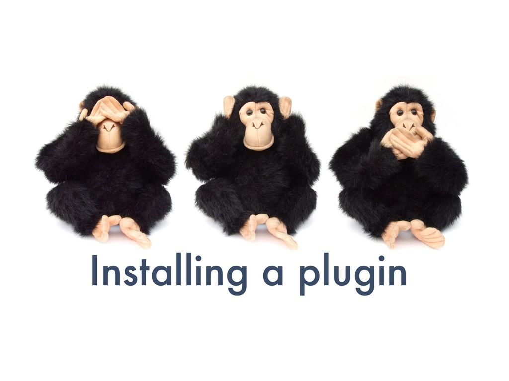 Installing a plugin