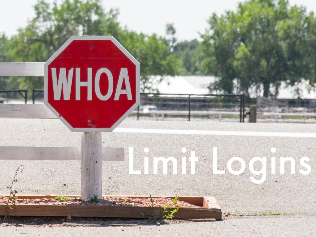 Limit Logins