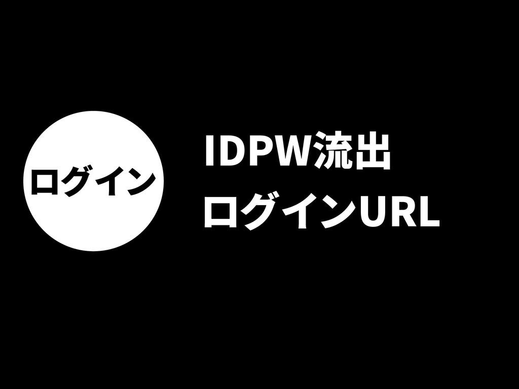 ログイン IDPW流出 ログインURL