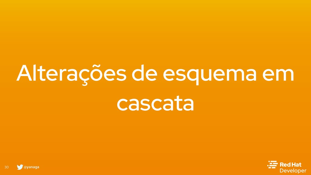 @yanaga 30 Alterações de esquema em cascata