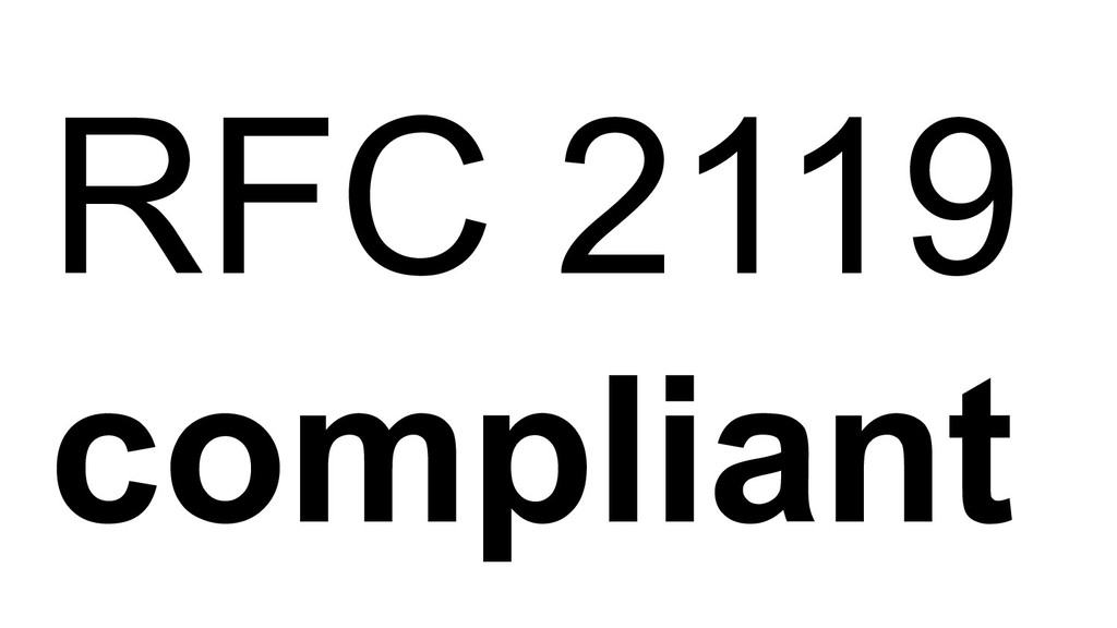 RFC 2119 compliant