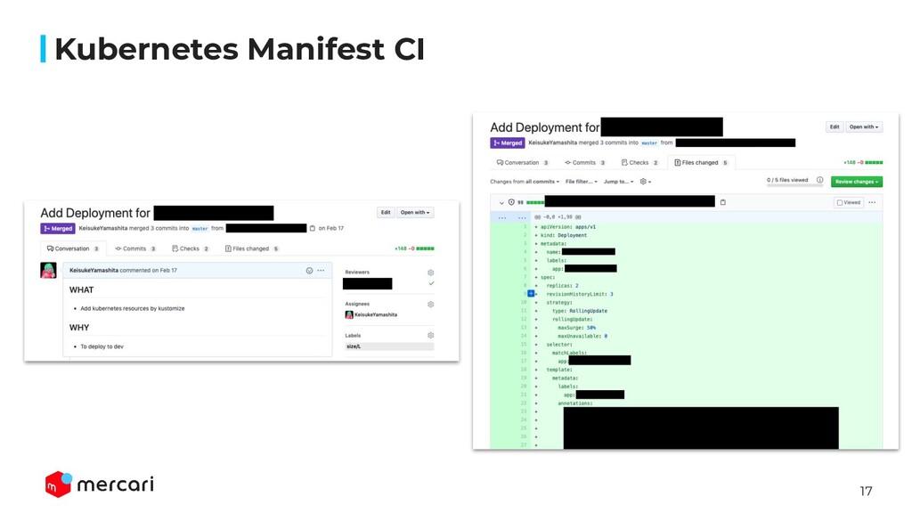 17 Kubernetes Manifest CI