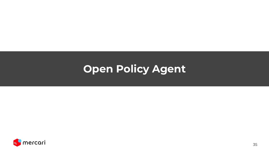 35 Open Policy Agent