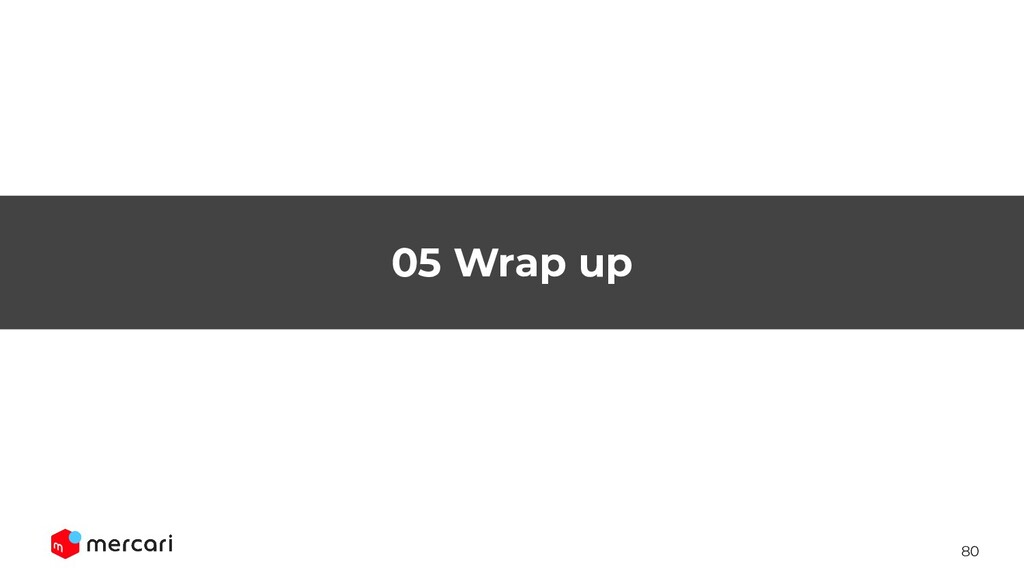 80 05 Wrap up