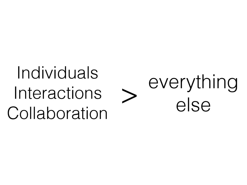 Individuals Interactions Collaboration everythi...