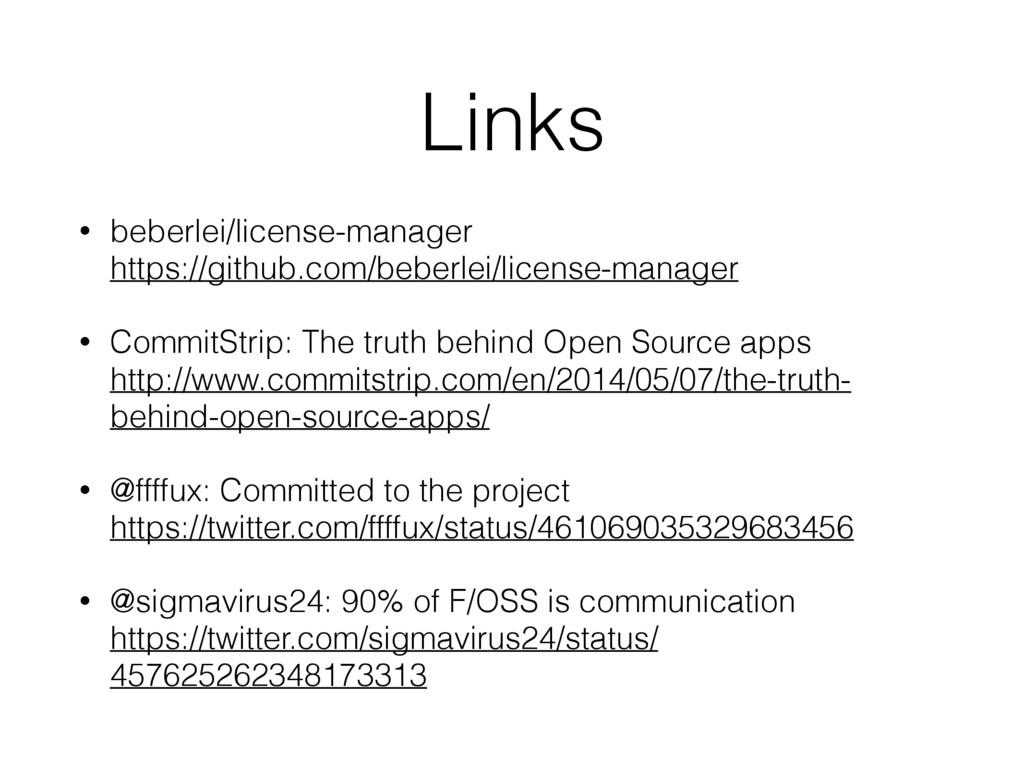 Links • beberlei/license-manager https://githu...
