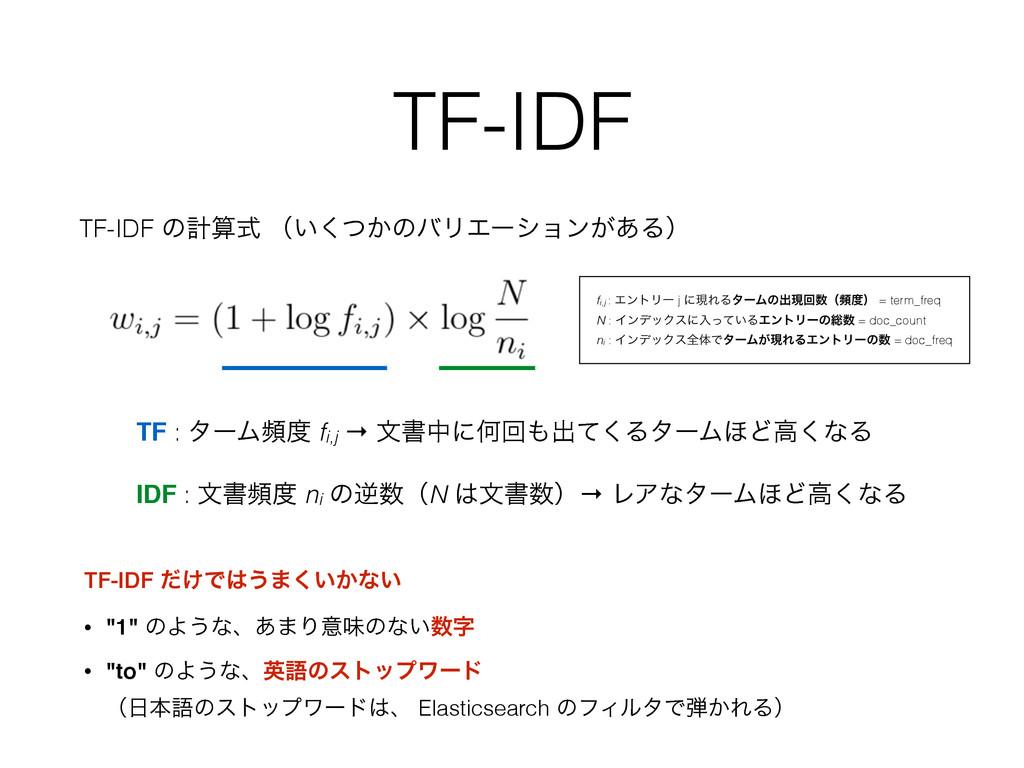 TF-IDF TF-IDF ͷܭࣜ ʢ͍͔ͭ͘ͷόϦΤʔγϣϯ͕͋Δʣ TF-IDF ͚ͩͰ...