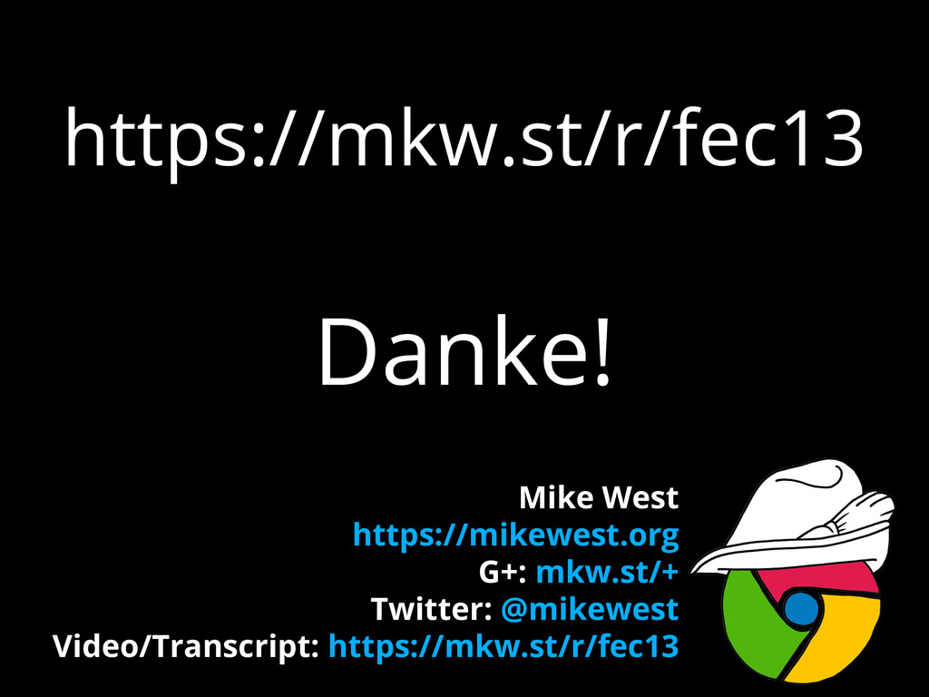 https://mkw.st/r/fec13 Danke! Mike West https:/...