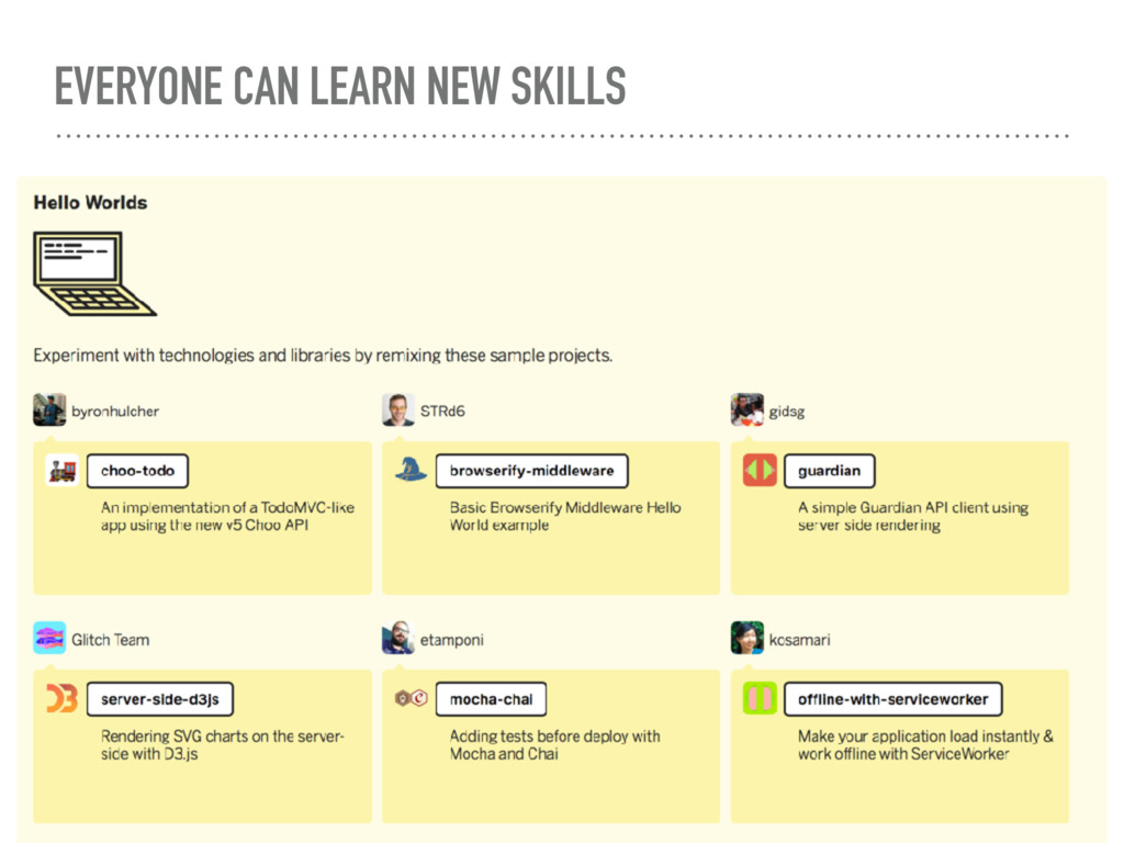 EVERYONE CAN LEARN NEW SKILLS
