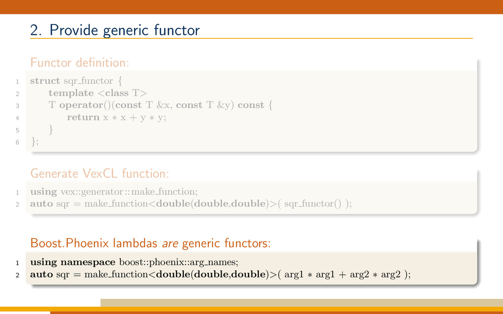 2. Provide generic functor Functor definition: 1...