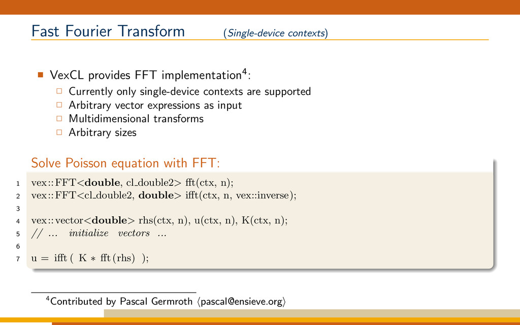Fast Fourier Transform (Single-device contexts)...