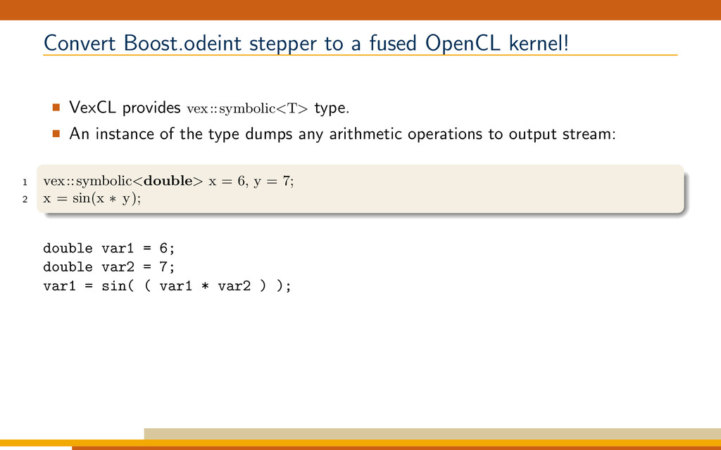 Convert Boost.odeint stepper to a fused OpenCL ...