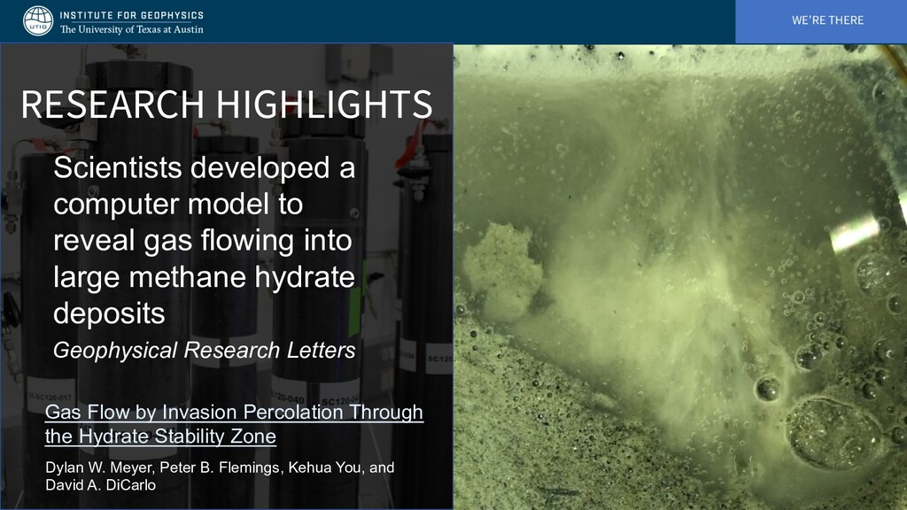WE'RE THERE RESEARCH HIGHLIGHTS Scientists deve...