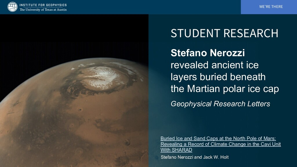 WE'RE THERE STUDENT RESEARCH Stefano Nerozzi re...