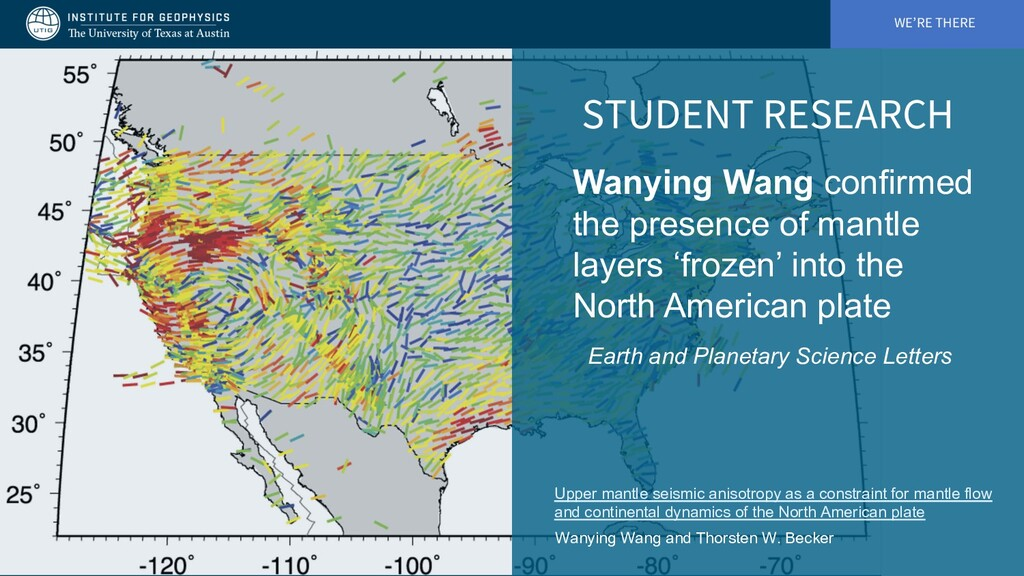 WE'RE THERE STUDENT RESEARCH Wanying Wang confi...