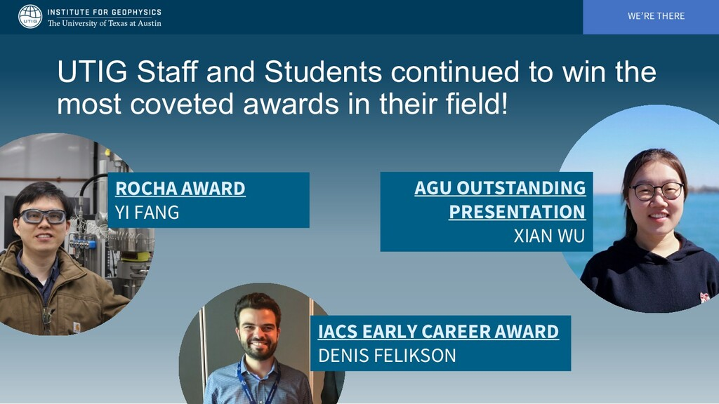 WE'RE THERE UTIG Staff and Students continued t...