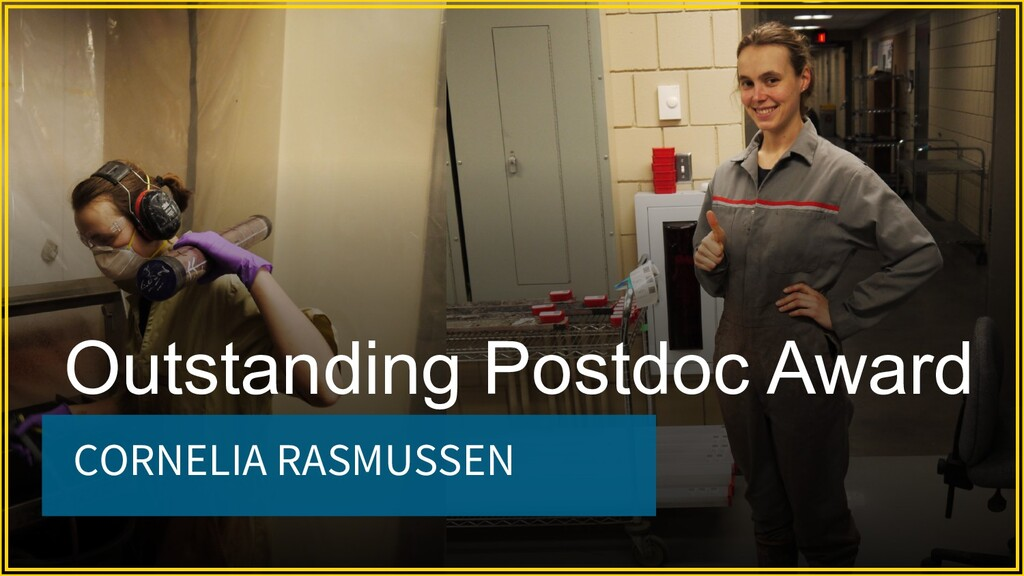 CORNELIA RASMUSSEN Outstanding Postdoc Award